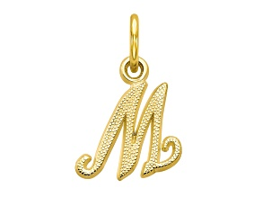 10k Yellow Gold initial M Charm
