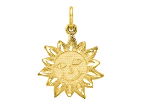 10k Yellow Gold Sun Charm