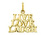 10k Yellow Gold Live Love Laugh Charm