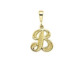 10k Yellow Gold Script initial B Charm