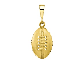 10k Yellow Gold Football Charm