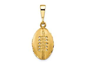 10k Yellow Gold Football Charm