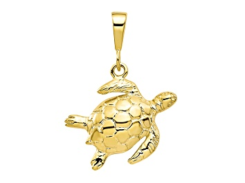 Picture of 10k Yellow Gold Turtle Charm