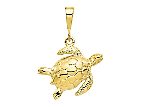 10k Yellow Gold Turtle Charm