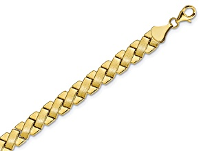 10k Yellow Gold Criss Cross Fancy Bracelet