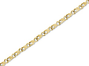 10k Yellow Gold Solid Polished Fancy Bracelet 7 inches