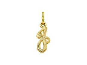 10k Yellow Gold initial J Charm