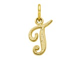 10k Yellow Gold initial T Charm