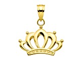 10k Yellow Gold Crown Charm