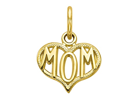 10k Yellow Gold Mom Charm