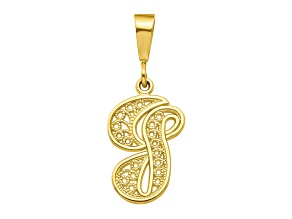 10k Yellow Gold Script initial G Charm