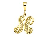 10k Yellow Gold Script initial H Charm