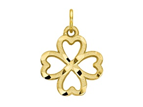 10k Yellow Gold Shamrock Charm