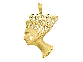 10k Yellow Gold Egyptian Head Charm