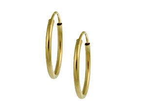 High Polish .78mm X 21mm Endless 14k Yellow Gold Hoop Earrings