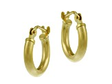 10k Yellow Gold .64mm X 11mm Mini Hoop Earrings    Hollow Center