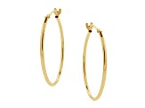 10k Yellow Gold High Polish .62mm X 18mm Hoop Earrings    Hollow Center
