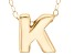 10k Yellow Gold Polished initial