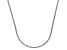 14k White Gold Diamond Cut Square Spiga Chain Necklace 18 inch 1mm