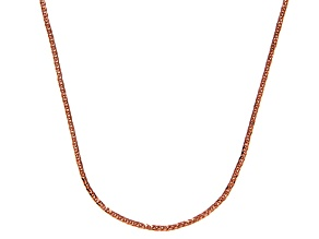 14k Rose Gold Square Spiga Link Chain Necklace 16 inch 1mm