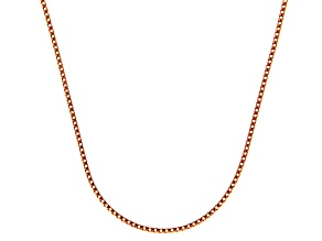14k Rose Gold Franco Link Chain Necklace 18 inch 1mm