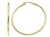 14k Yellow Gold Round Hoop Earrings   Hollow Center