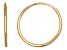 14k Yellow Gold 12mm Endless Hoop Earrings  Hollow Center