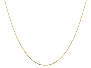14k Polished .5mm Box Chain