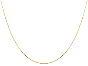 14k Polished .8mm Box Chain