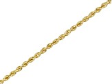 14k Yellow Gold 2.00mm Rope Link 18 inch Chain