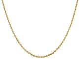 14k Yellow Gold 2.00mm Rope Link 20 inch Chain