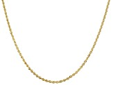 14k Yellow Gold 2.00mm Rope Link 24 inch Chain