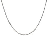 14k White Gold 2.00mm Rope Link 20 inch Chain