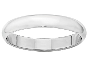 Details about  /SIZE 8.5-18kt White Gold Wedding Band 2 mm Wide Half Round Ultra-Light Ring