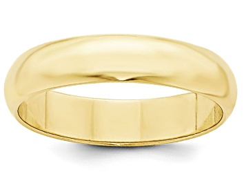 Picture of 10k Yellow Gold 5mm Half-Round Band