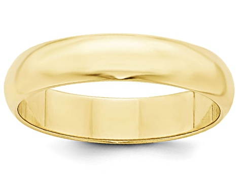 10k Yellow Gold 5mm Half-Round Band