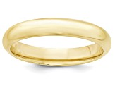 10k Yellow Gold 4mm Comfort-Fit Band