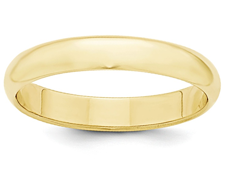 10k Yellow Gold 2mm Half Round Band