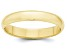10k Yellow Gold 4mm Half-Round Band