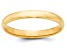 14k Yellow Gold 3mm Half-Round Wedding Band