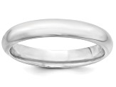 14k White Gold 4mm Comfort-Fit Band Ring