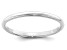 14k White Gold 2mm Half-Round Band Ring