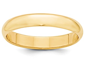 14k Yellow Gold 4mm Half-Round Band