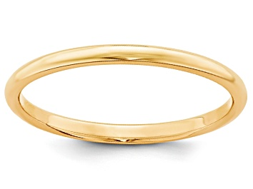 Picture of 14k Yellow Gold 2mm Half-Round Wedding Band