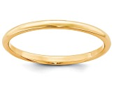 14k Yellow Gold 2mm Half-Round Wedding Band
