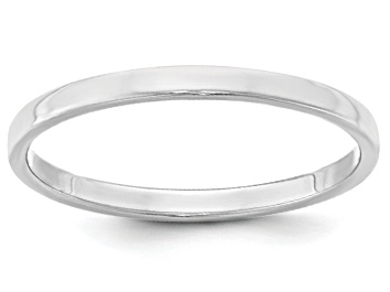 Picture of 14k White Gold 2mm Flat Band Ring