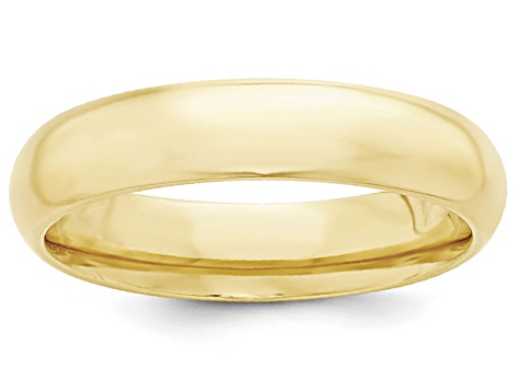 10k Yellow Gold 5mm Comfort-Fit Band