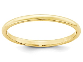 10k Yellow Gold 2mm Half-Round Band