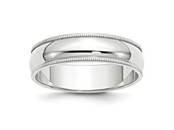 Picture of 14k White Gold 6mm Milgrain Band Ring