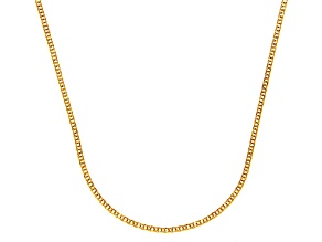 14k Yellow Gold Diamond Cut Square Spiga Link Chain Necklace 16 inch